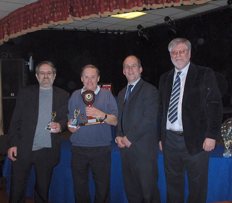 Dave Shaw and Ian Welham of Rasen with Mark Webb and Malcolm Towle